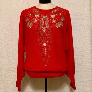 Vintage Beaded Angora Sweater